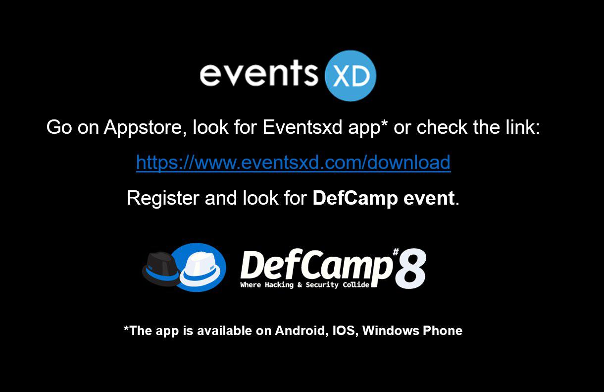Mobile App DefCamp 2017 - DefCamp 2019