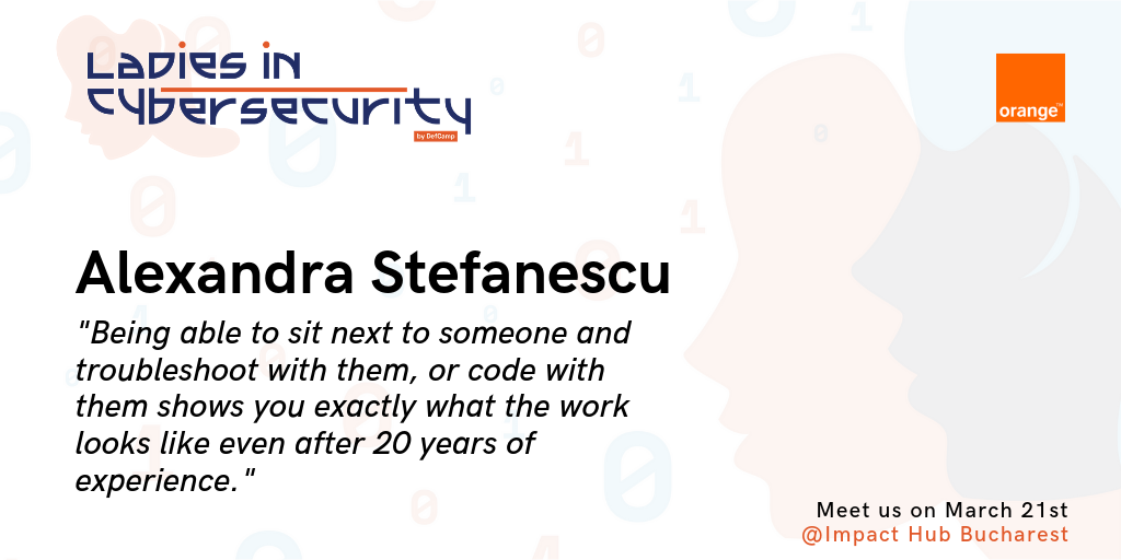 ladies in cybersecurity defcamp alexandra stefanescu