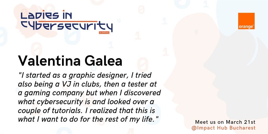 ladies in cybersecurity defcamp valentina galea