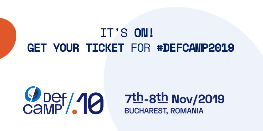 get ticket defcamp 2019