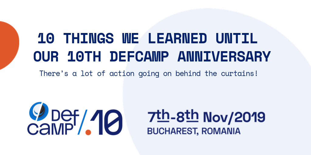 10th defcamp anniversary