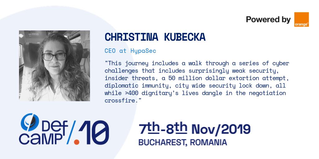christina kubecka defcamp interview