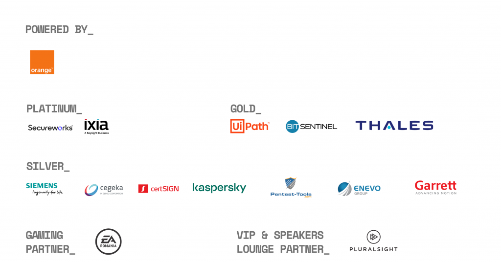 Meet our DefCamp 10 partners 2019