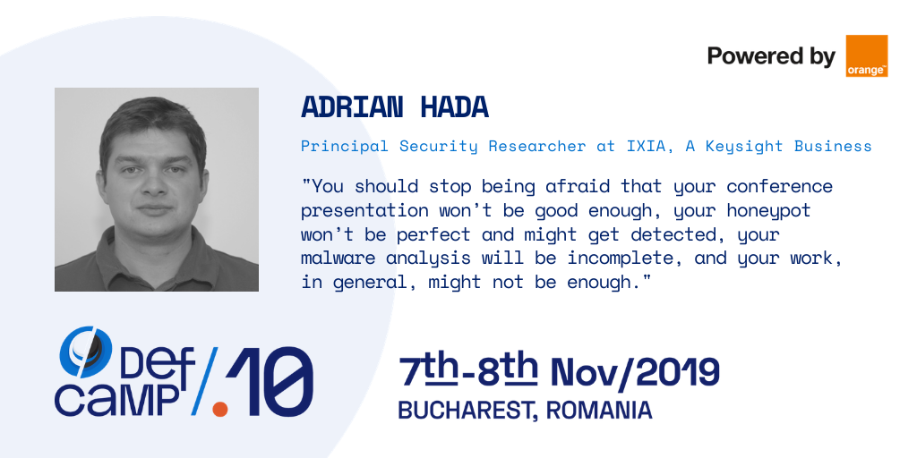 adrian hada ixia defcamp 2019 interview