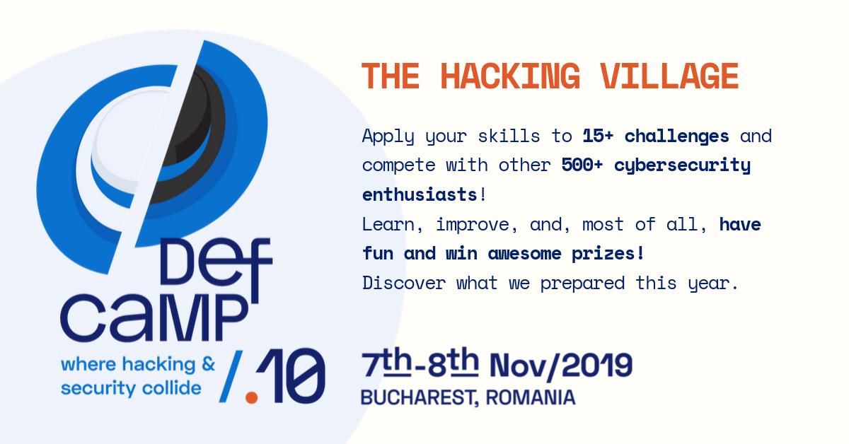 defcamp hacking village 2019 update