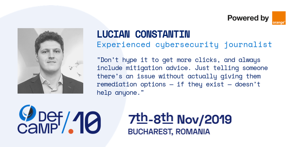 lucian constantin defcamp interview